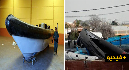 """بالفيديو.. تفكيك مصنع لصناعة وتقوية قوارب """"الفانتوم"""" واعتقال 15 شخصا"""