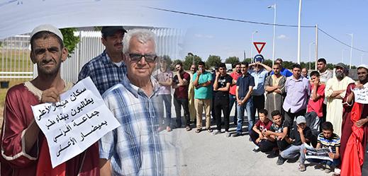 ساكنة ميضار الأعلى تنقل احتجاجها ضد تنقيل مقر جماعة إفرني لدوار حجر الطاجين إلى عمالة الدريوش