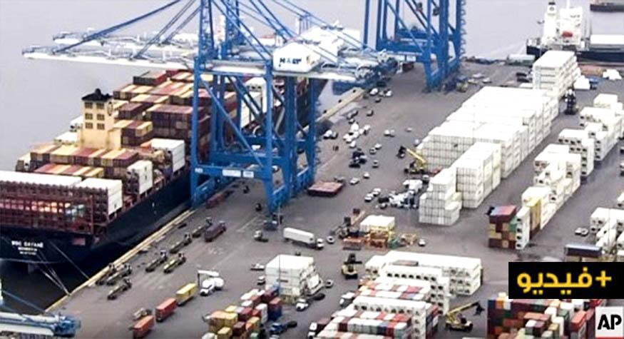 بالفيديو.. ضبط 16 طنا من الكوكايين في سفينة متجهة نحو هولندا
