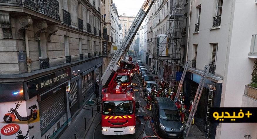 بالفيديو..  مقتل 3 أشخاص وجرح 27  أخرين خلال إندلاع حريق مهول وسط باريس