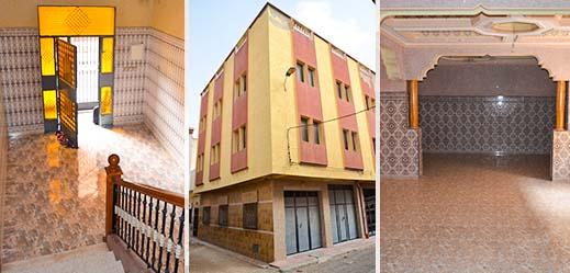 منزل محفظ بواجهتين وطابقين للبيع بالناظور بثمن مناسب