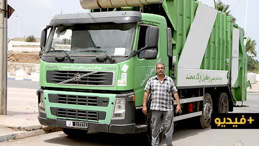 أكرش جهات عطلت شاحنة جماعة بني وكيل بعد دخولها الى مدينة الناظور للمساعدة على جمع النفايات