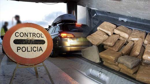 بالصور.. توقيف عائلة مقيمة بهولندا بعد العثور داخل سيارتها على كمية مهمة من الحشيش