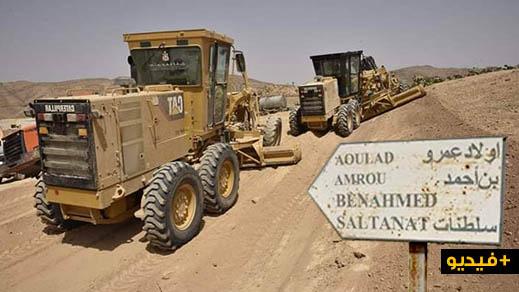 فتح وتهيئة المسالك الطرقية بدواوير جماعة مشرع حمادي بإقليم تاوريرت
