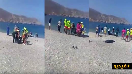 شاهدوا بالفيديو.. إنتشال جثة شخص غرق في مياه البحر بشاطئ بادس ضواحي الحسيمة