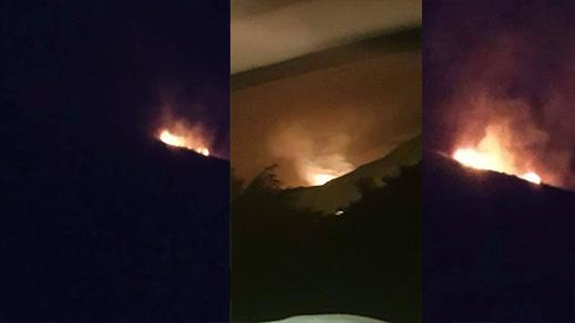 """اندلاع حريق ضخم في غابة """"تيزي عزى"""" بتفرسيت والأسباب مجهولة"""