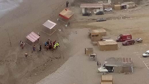 بالصور.. العثور على جثة شاب غرق بشاطئ عبدونة بإقليم الدريوش عالقة وسط صخور البحر