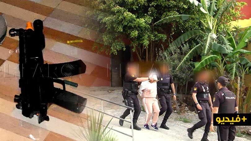 شاهدوا بالفيديو.. اعتقال 10 أشخاص وحجز أسلحة نارية ومبالغ مالية مهمة خلال تفكيك شبكة لتهريب البشر