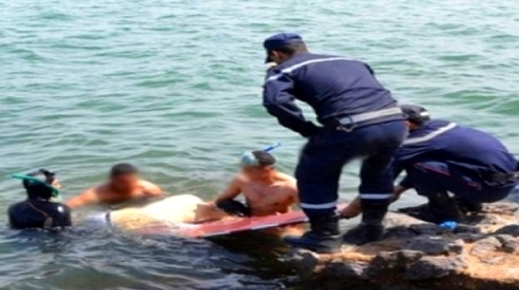 إنتشال جثة شاب مجهول الهوية لقي حتفه غرقا بشاطئ السعيدية