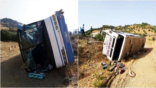 في أقل من 12 ساعة.. انقلاب حافلة أخرى بين الحسيمة وتاونات تخلف إصابة 37 راكبا بجروح