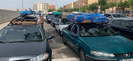 توافد الجالية المغربية للاحتفال بعيد الأضحى يخنق المعبر الحدودي بني انصار مليلية