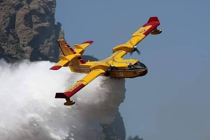 معلومات حول الطائرتين اللتان ساهمتا في إخماد حريق غابة أفرني بالدريوش