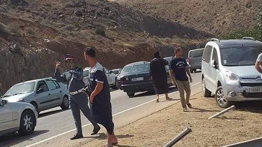 بالصور.. مصرع شخص في حادثة سير خطيرة على مستوى الطريق الساحلية بين الناظور والحسيمة