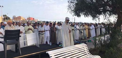 ساكنة مليلية تؤدي صلاة عيد الأضحى وسط دعوات بإلغاء قانون منع الأكباش المغربية
