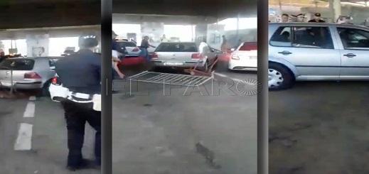 """فيديو جديد لسائق """"كاميكاز"""" يظهر كيف تخطى حواجز الأمن المغربي للوصول الى سبتة"""