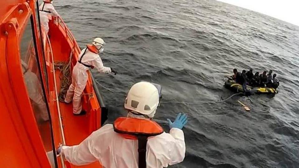 البحرية الاسبانية بمليلية تنقذ مهاجرين سريين من بنغلاديش وجنوب الصحراء