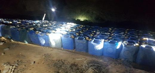 القوات المساعدة تعثر على أزيد من 4 أطنان من البنزين المعد لقوارب الهجرة بجماعة أركمان