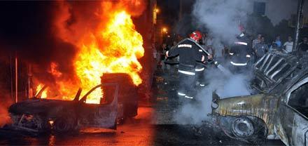 """الدريوش.. اندلاع النيران في سيارة بمرتفعات """"بوعلمة"""" قرب جماعة قاسيطة"""