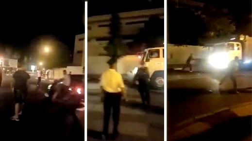 بالفيديو: سائق شاحنة مخمور يزرع الرعب وسط شوارع وجدة ويصطدم بسيارات إحداها كان على متنها برلماني