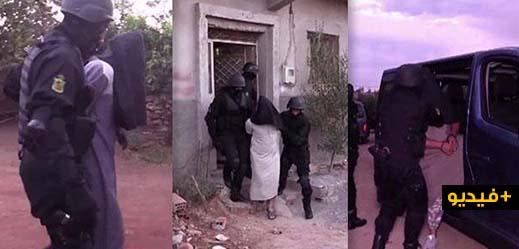 """شاهدوا بالفيديو.. لحظات إعتقال أفراد خلية إرهابية موالية لـ """"داعش"""" تنشط بين بركان والناظور"""