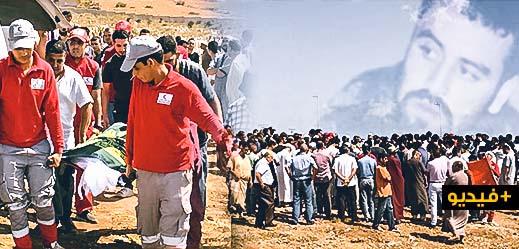 """حشد غفير يُشيّع جثمان الراحل """"رشيد الحدوشي"""" في جنازة مهيبة خيّم عليها الحزن بالناظور"""