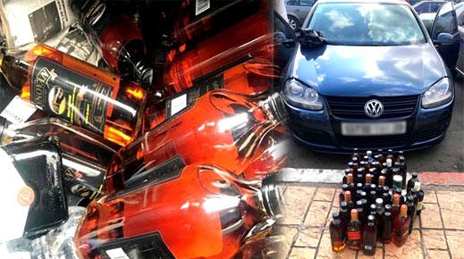 جمارك باب مليلية تحبط تهريب كمية من الخمور على متن سيارة نفعية صوب الناظور