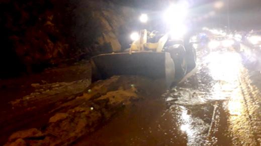 السيول تغلق الطرق الرابطة بين الحسيمة ومناطق الشمال