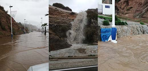 بالصور.. تساقطات مطرية مهمة تحول شوارع مدن الريف الى بحيرات مائية