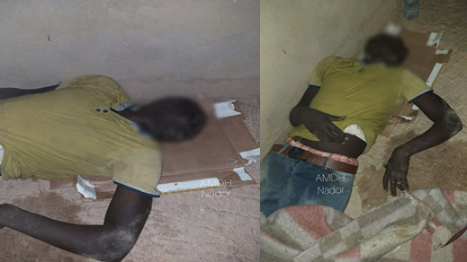 """الجمعية المغربية لحقوق الانسان تتهم عون سلطة و """"مخازني"""" بالتسبب في وفاة مهاجر افريقي ضواحي الناظور"""