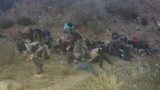 احباط عملية حريك 40 شخصا من دول جنوب الصحراء باعزانن