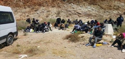 ايقاف 53 مهاجرا سريا ينحدرون من دول جنوب الصحراء ضمنهم أطفال ونساء بالكبداني