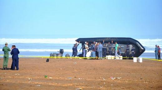 إرتفاع حصيلة غرق زورق محمل بمهاجرين مغاربة إلى 18 غريقا واعتقال 8 متورطين في شبكة تهريب المهاجرين