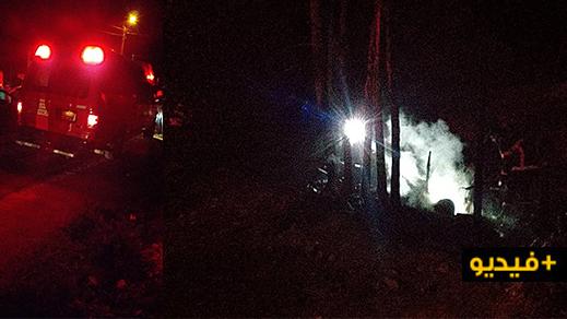الوقاية المدنية تتدخل لإخماد حريق شب في محصول فلاحي بالكبداني