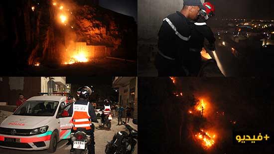 الأزبال تتسبب في حريق مهول قرب المستشفى الحسني بالناظور والوقاية المدنية تتدخل