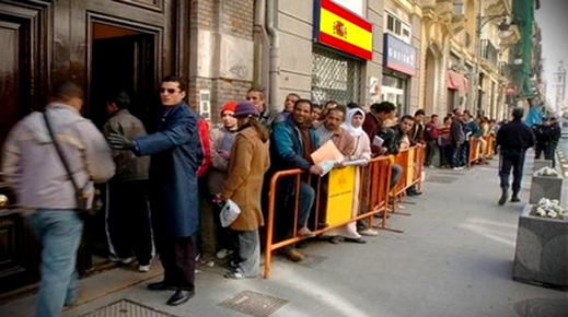 المغاربة أكثر الأجانب المسجلين لدى صندوق الضمان الاجتماعي باسبانيا