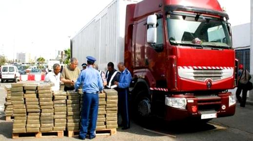 إجهاض عملية تهريب أزيد من 4 أطنان من الحشيش على متن شاحنة للنقل الدولي بالميناء المتوسطي