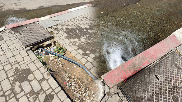 غريب بالصور.. مياه تتدفق بلا انقطاع منذ سنتين بمحاذاة مقر أمن الناظور تثير استغراب المواطنين
