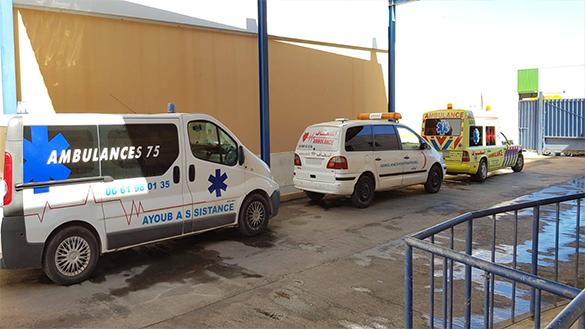 حجز أربع سيارات اسعاف مغربية بمليلية بسبب عدم توفرها على شروط السلامة