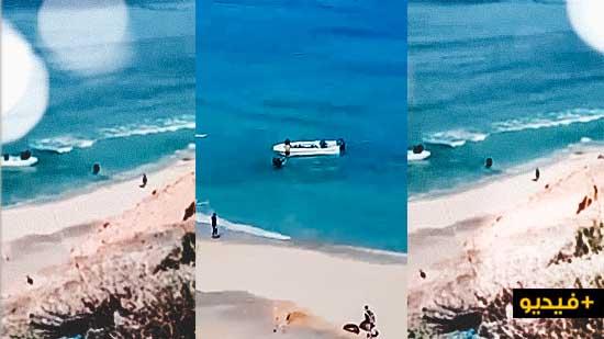 اقلاع قارب للمهاجرين