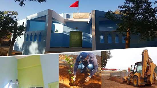 جمعية تويزا للتنمية المستدامة تغير شكل المركز الصحي لجماعة بني وكيل في حملة نظافة