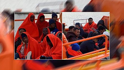 السلطات الاسبانية تتمكن من انقاذ مهاجرات عالقات بالقرب من سواحل الناظور