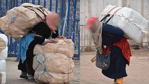 تجار  مليلية يضغطون لحصد المزيد من الأرباح على حساب كرامة و حياة النساء الحمالات بالمعابر الحدودية