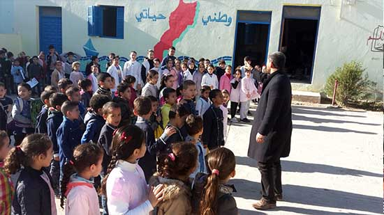 """مدرسة """"القدس"""" الابتدائية بأزغنغان تنخرط في الأسبوع الوطني للتعاون المدرسي"""