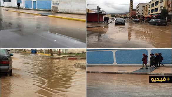 شاهدوا.. تساقطات مطرية مهمة بجماعات إقليم الناظور تحيي آمال الفلاحين وتكشف هشاشة البنية التحتية