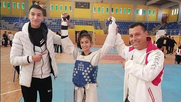 """إبنة الدريوش """"مريم شبة"""" تواصل تألقها في البطولة الجهوية لعصبة الشرق في """"التايكواندو"""" ببركان"""