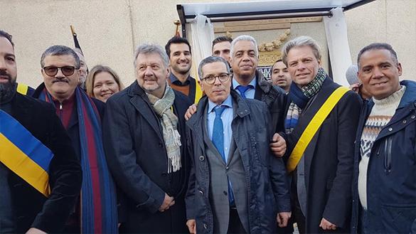 """تدشين نافورة تقليدية مغربية ببلدية """"جيت"""" وسط العاصمة البلجيكية بروكسيل"""
