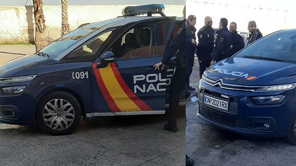 لاجئ سوري يستنفر الشرطة الاسبانية بباب بني انصار
