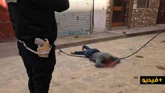 بالفيديو.. شخص يسقط في ظروف غامضة من الطابق الثالث بشارع الساقية الحمراء وسط الناظور
