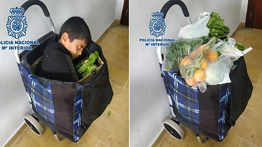 """إيقاف سيدة مغربية خبّأت طفلا سوريا داخل حقيبة للتبضع لـ""""تهريبه"""" إلى مليلية"""