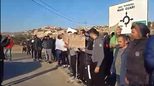 تونسيون يحتجون بمليلية بسبب ظروف العيش المزرية بمركز الإيواء